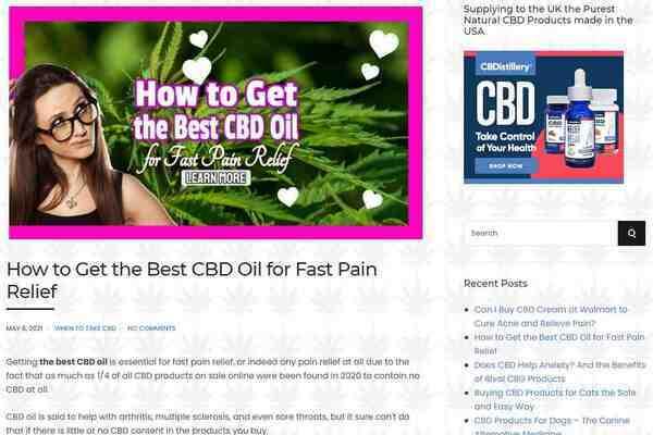 naturoilscbd.com - CBD Marketplace E-commerce or Affiliate Website - SEO Optimized WordPress CMS.