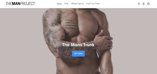 themanprojectorg.com - e-Commerce / Health and Beauty