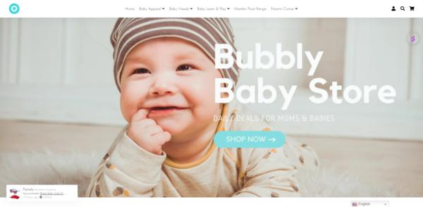 bubblybabyco.store - e-Commerce / Lifestyle