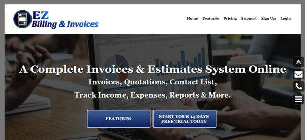 EZ Billing & Invoices - SAAS Billing, Invoicing, and Estimates Platform. Turnkey business. Ready to start making money. Try it at www.EZBillingAndInvoices.com
