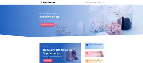 Sedative.org - Sedative.org | Premium Domain & Modern Wordpress Site | Low Reserve