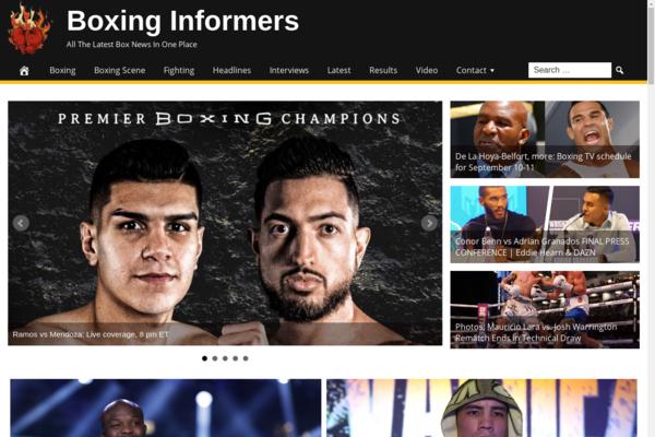 BoxingInformers.com - Boxing News - High CTR Design - BIN Bonus - Fully Automated - Popular Niche