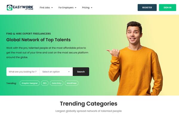 EasyWorkAtHome - Well-Established Freelancer Platform Brings in Steady Profits With Little Effort