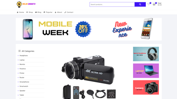 RelaxGadgets.com - Amazon Affiliate Electronics niche websites 300 plus Trending products Preloaded