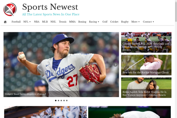 SportsNewest.com - Sports News - High CTR Design - BIN Bonus - Fully Automated - Popular Niche