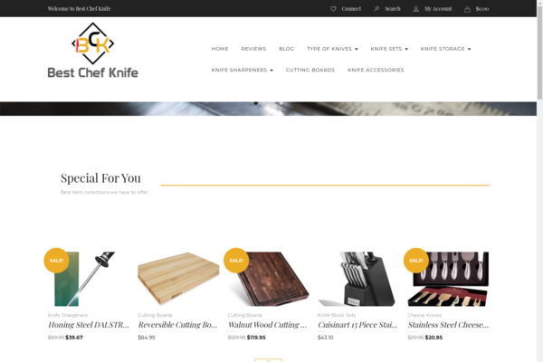 Best Chef Knife - I'm selling my reviews/affiliate website and Amazon account in Chef Knives niche. High opportunity.