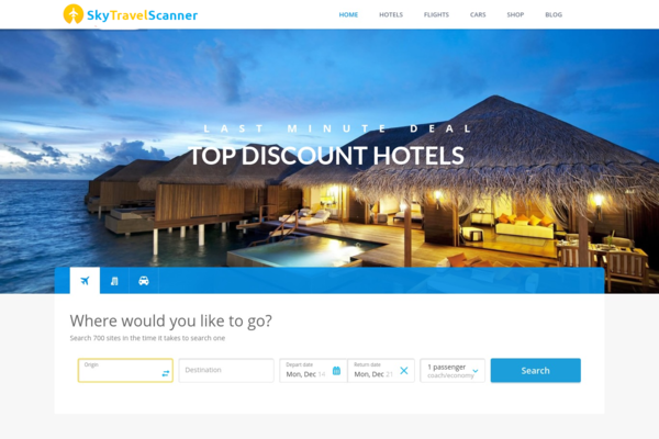 SkyTravelScanner.com - Fully Automated Travel Website - $10k/Month Potential - Adsense Ready
