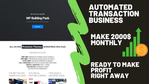 wpbuildingpack.com - Starter Site for sale in the Internet industry