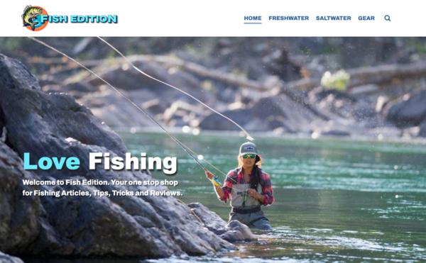 Fish Edition - Amazing New Website - Popular Fishing Niche - Premium Design & Domain