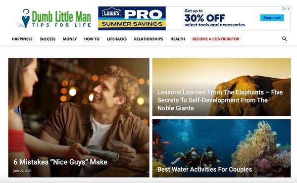 dumblittleman.com - Advertising / Lifestyle