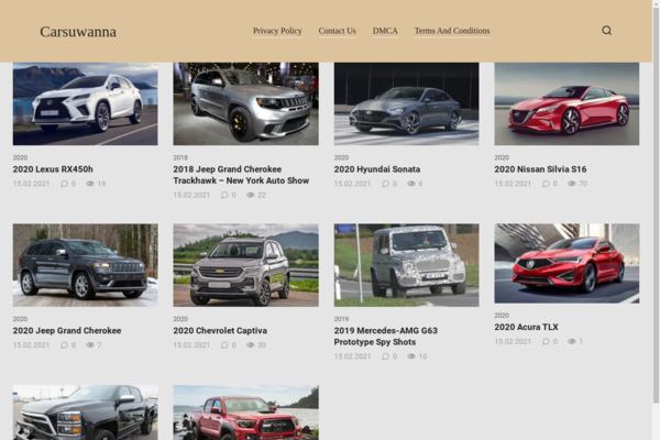 carsuwanna.com - Old site review and car news on wordpress.