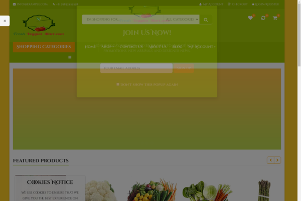 FreshVeggiesMart.com - Premium GROCERIES Dropship and Affiliate eCommerce STORE - 100% Automated!