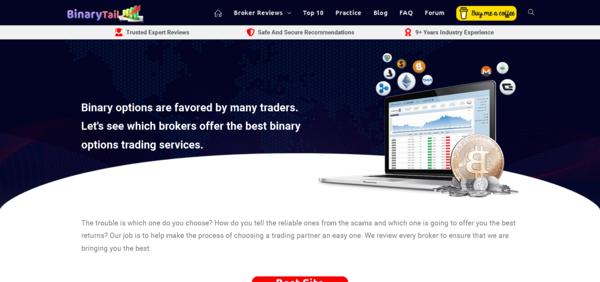 BinaryTail.com - Binarytail.com - Binary Options Broker Review & Affiliate Website - Trading Practice Widget - Passive Income. Huge Potential, Huge Bonus