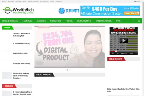 WealthAndRich.xyz - 70 FREE Websites with High Potential Niches Make Money Starter Site For BIN $599