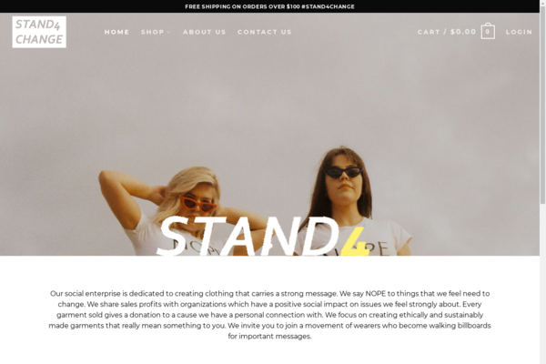 stand4change.co - Trending Social Issues Print On Demand Store