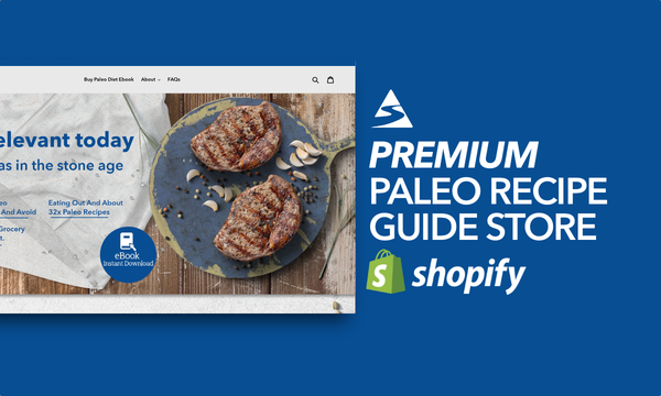 PaleoDietsRecipe.com - Ecommerce Shopify Starter Store For Sale, Specialising In The Paleo Niche