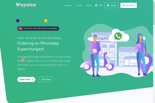 Wapdaa.com - Start your own food delivery business with Sass Based