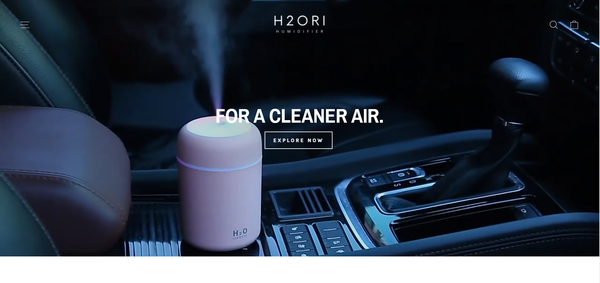 h2ori.com - Minimalistic Humidifier   Branded Automated One Product Store   4-13 Shipping
