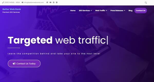 BetterWebRank.com - Stunning SEO Service Reseller Done-For-You Business Site. Newbie Friendly. Premium aged domain worth $504. Easily managed WordPress & WooCommerce site.