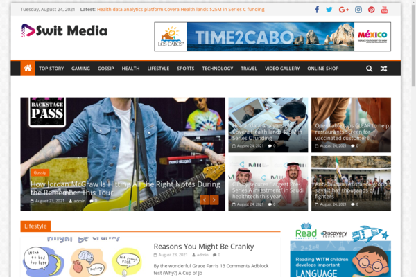 switmedia.com - Fully Automated Fantastic News Site - Ads Ready. Passive Residual Income.