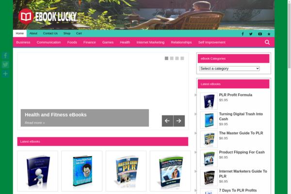 EBookLucky.com - Direct Paypal Payment-200++Exclusive High Demand EBook Store-Newbie Friendly