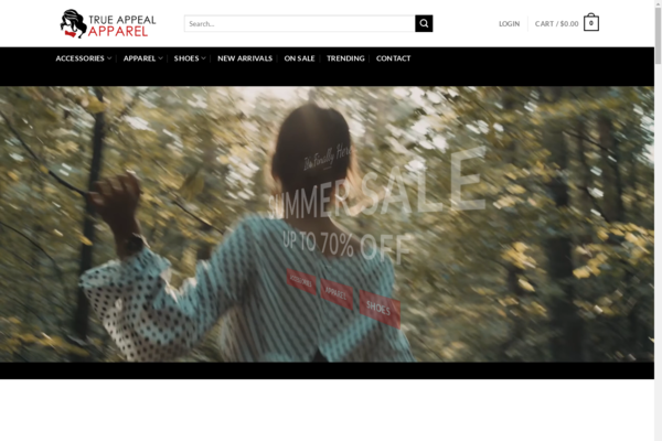 TrueAppealApparrel.com - Premium Womens Apparel eCommerce Video Store - $2600 per month + Training + Xtra