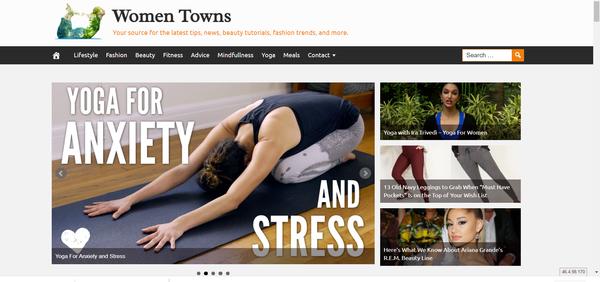 WomenTowns.com - 100% Automated Women Site, Amazon & Ad income + BIN Bonus