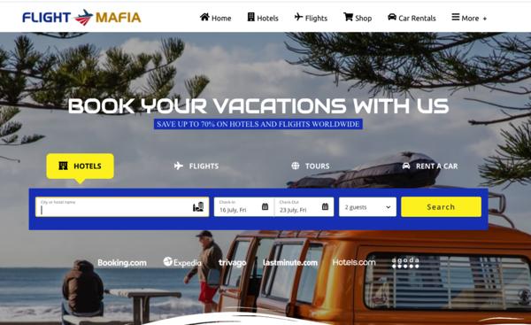 FlightMafia.com - Automated Travel Website, Earn Up To $10k/Mon On Flights, Hotels & Trip bookings