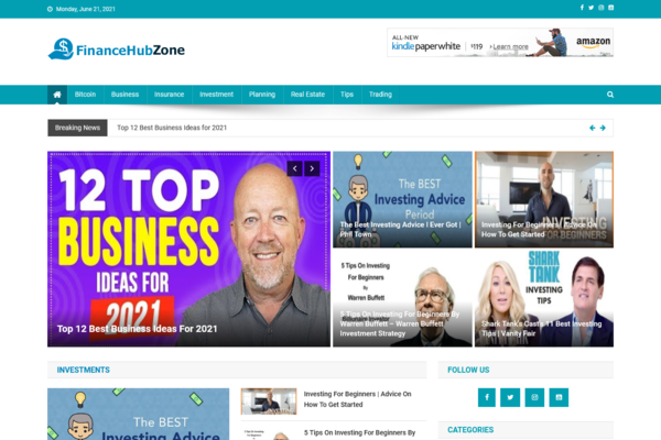 FinanceHubZone.com - Fully Automated Finance Site - Great Profitable - Newbies Friendly - Must See!
