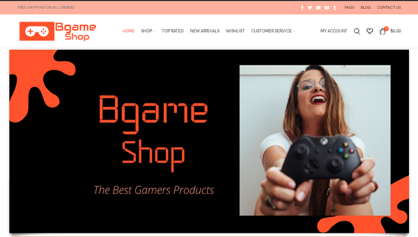 bgameshop.com - Automated Store, SEO Backlinks $4,500/Mo Potential, 12-years Domain -NO RESERVE!