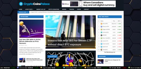 CryptoCoinsPalace.com - Autopilot Crypto Bitcoin News Magazine Blog To Make Money Online