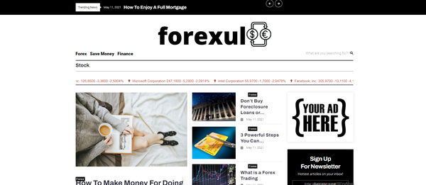 forexul.com - Forex Blog with Unique Content 15,000 + Words, Potential Earn Up To $5k/mo
