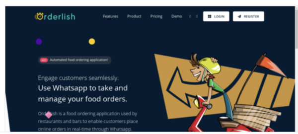 orderlish.com - Orderlish is a food ordering application used by restaurants and bars to enable