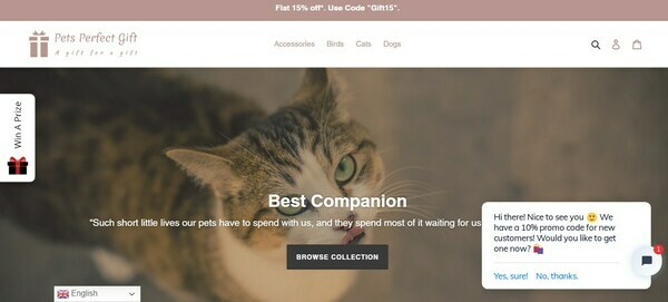 PetsPerfectGift.com - Professional Automated Shopify store Pet Dog, Cats Niche, $6200/month potential