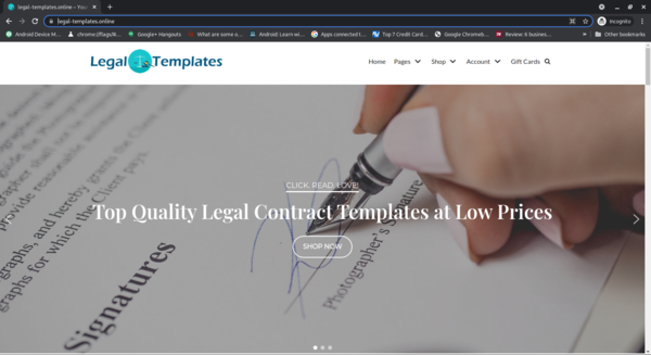 legal-templates.online - Legal-Templates.Online Woocommerce legal contract templates Store Digital Goods