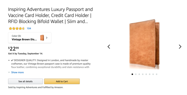 Inspiring Adventures - 6-year-old private label Amazon FBA, $50K revenue UK & USA last 12 months. (Travel products - Plenty of room for growth after COVID!)