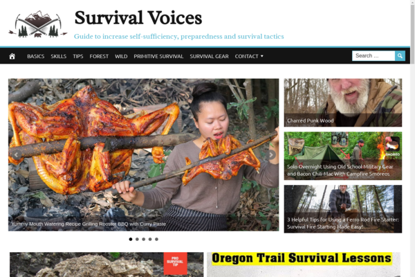 SurvivalVoices.com - High Converting Hot Niche - Survival Video Site -Premium Design- Fully Automated