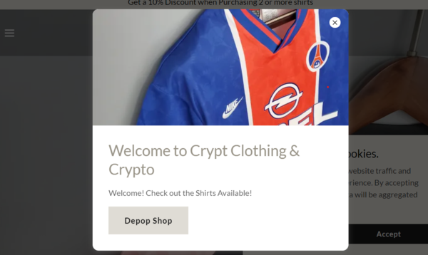 Crypt Kits  - E-commerce Business in the crypto and sports clothing markets.