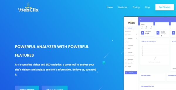 WebClix - SEO Saas Solution | Earn Big Selling Website Analytic Software | Easy to run professional Website model | Exponential Growth Tested and Researched Biz