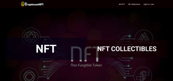 CryptoseaNFT.com - Crypto NFT Marketplace, Connected using Metamask, Supported Token using BNB, ETH, MATIC. NFT is a Major use case of Crypto and it's solving digital ownership.
