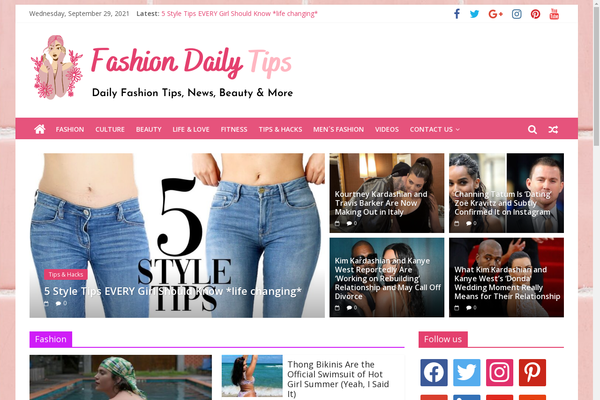 FashionDailyTips.com - Fashion Tips & News - Killer Design - 100% Automated - 1 Extra site Or 1 Year free hosting for BIN + Bonuses - Amazon & Clickbank Income