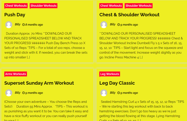 bestfreeonlineworkouts.com - Online Workouts with a tonne of content already provided!