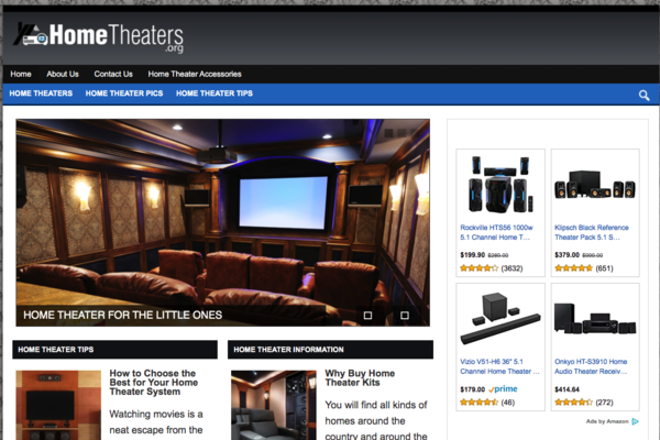 HomeTheaters.org - Gorgeous Content Rich Home Theater Website!
