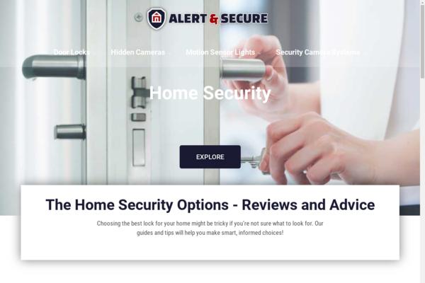 alertandsecure.com - Home Security | Content Site | Affiliate Marketing, Ads & More!