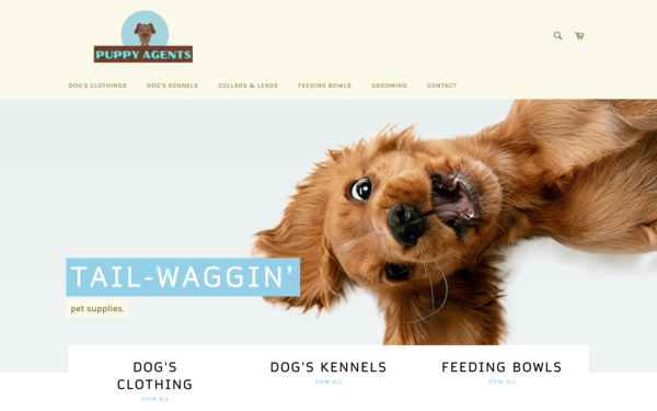 PuppyAgents.com - DOG SUPPLIES Store |Fantastic Opportunity to Start Dropshipping Worldwide | New User Friendly |Automated Fulfilment | Premium Domain worth $1,294|Password: 123