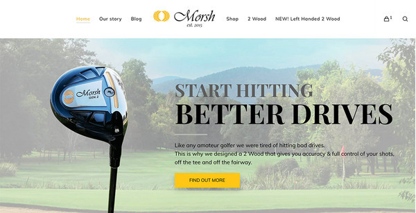 morshgolf.com - e-Commerce / Sports and Outdoor