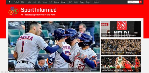 SportInformed.com - Sports News - High CTR Design - BIN Bonus - Fully Automated - Popular Niche