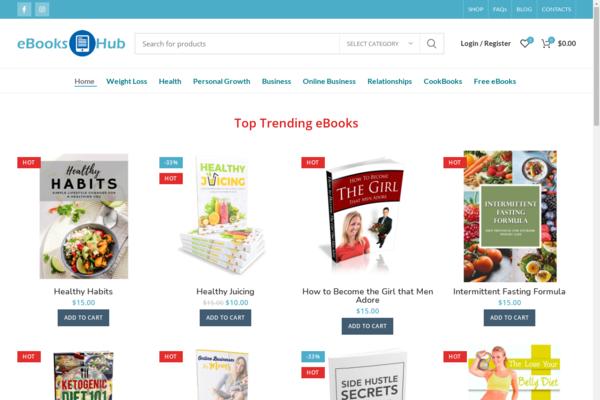 eBooksHub.store - eBooks Download ecommerce Website ~ 100% Automated ~ More than 100 eBooks