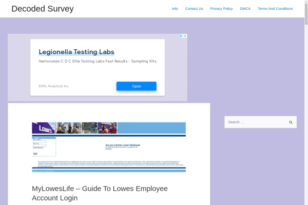 decodedsurvey.info - Blog about health, nutrition. The site is made on Wordpress.