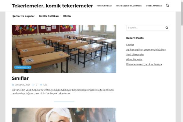 tekerlemeler.biz - Turkish educational website on wordpress